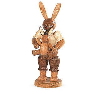Small Figures & Ornaments Animals Rabbits Easter bunny farther with child - 11 cm / 4 inch