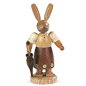 Small Figures & Ornaments Animals Rabbits Easter bunny female natural colors - 11 cm / 4 inch