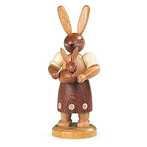 Small Figures & Ornaments Animals Rabbits Easter bunny mother with child - 11 cm / 4 inch