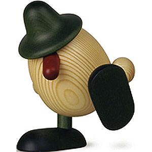 Kleine Figuren & Miniaturen Björn Köhler Eierköpfe klein Eierkopf Alfons auf Kante sitzend/tanzend, grün - 11 cm
