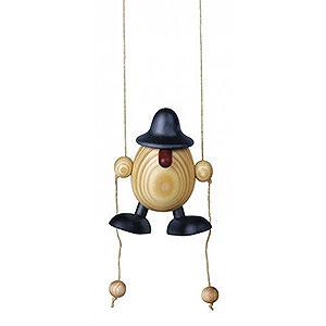 Kleine Figuren & Miniaturen Björn Köhler Eierköpfe klein Eierkopf Arthur kletternd, blau - 11cm