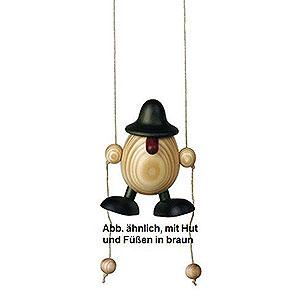 Kleine Figuren & Miniaturen Björn Köhler Eierköpfe klein Eierkopf Arthur kletternd, braun - 11cm