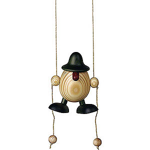 Kleine Figuren & Miniaturen Björn Köhler Eierköpfe klein Eierkopf Arthur kletternd, grün - 11cm