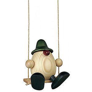 Kleine Figuren & Miniaturen Björn Köhler Eierköpfe klein Eierkopf Bruno auf Schaukel, grün - 11 cm