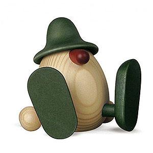 Kleine Figuren & Miniaturen Bj�rn K�hler Eierk�pfe klein Eierkopf Erwin sitzend, gr�n - 11cm