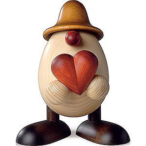 Kleine Figuren & Miniaturen Björn Köhler Eierköpfe klein Eierkopf Hanno mit Herz, braun - 11 cm