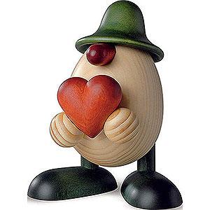 Kleine Figuren & Miniaturen Björn Köhler Eierköpfe klein Eierkopf Hanno mit Herz, grün - 11cm