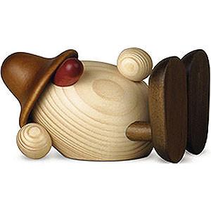 Kleine Figuren & Miniaturen Björn Köhler Eierköpfe klein Eierkopf Oskar liegend, braun - 11cm