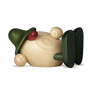 Kleine Figuren & Miniaturen Björn Köhler Eierköpfe klein Eierkopf Oskar liegend, grün - 11cm