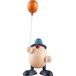 Kleine Figuren & Miniaturen Björn Köhler Eierköpfe klein Eierkopf Otto mit Luftballon, blau - 11 cm