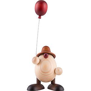 Kleine Figuren & Miniaturen Björn Köhler Eierköpfe klein Eierkopf Otto mit Luftballon, braun - 11 cm