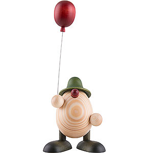 Kleine Figuren & Miniaturen Björn Köhler Eierköpfe klein Eierkopf Otto mit Luftballon, grün - 11 cm