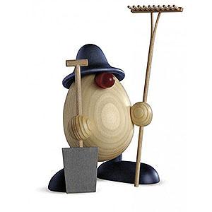 Kleine Figuren & Miniaturen Björn Köhler Eierköpfe groß Eierkopf Vater Benno, Gärtner, blau - 15cm