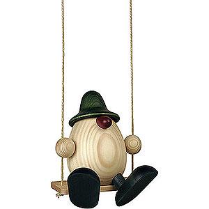 Kleine Figuren & Miniaturen Björn Köhler Eierköpfe groß Eierkopf Vater Bruno auf Schaukel, grün - 15cm