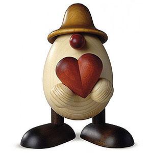 Kleine Figuren & Miniaturen Bj�rn K�hler Eierk�pfe gro� Eierkopf Vater Hanno mit Herz, braun - 15cm