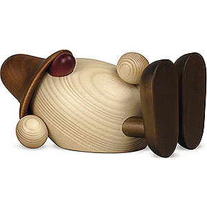 Kleine Figuren & Miniaturen Björn Köhler Eierköpfe groß Eierkopf Vater Oskar mit Blume liegend, braun - 15 cm