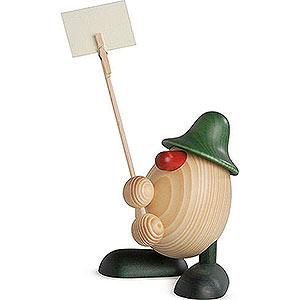 Kleine Figuren & Miniaturen Björn Köhler Eierköpfe klein Eierkopf Willi, Zettelhalter, grün - 11cm
