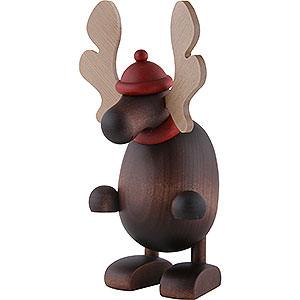 Kleine Figuren & Miniaturen Björn Köhler Weihnachtsfrauen kl. Elch Olaf, stehend - 14,5cm