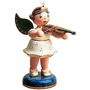 Weihnachtsengel Engel - weiß (Hubrig) Engel Geige - 16 cm