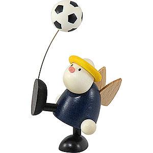 Kleine Figuren & Miniaturen Hans & Lotte (Hobler) Engel Hans Fußball balancierend - 7 cm