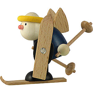 Kleine Figuren & Miniaturen Hans & Lotte (Hobler) Engel Hans beim Langlauf - 7cm