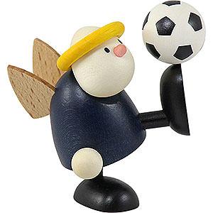 Kleine Figuren & Miniaturen Hans & Lotte (Hobler) Engel Hans mit Fußball Hochschuß - 7 cm