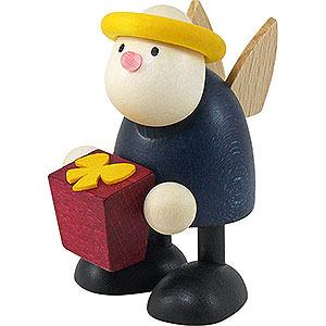 Kleine Figuren & Miniaturen Hans & Lotte (Hobler) Engel Hans mit Geschenk - 7cm