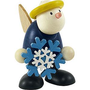 Kleine Figuren & Miniaturen Hans & Lotte (Hobler) Engel Hans mit Schneeflocke - 7cm