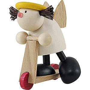 Kleine Figuren & Miniaturen Hans & Lotte (Hobler) Engel Lotte auf Roller   - 7cm