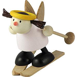 Kleine Figuren & Miniaturen Hans & Lotte (Hobler) Engel Lotte auf Ski - Schneeflug   - 7cm