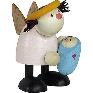 Kleine Figuren & Miniaturen Hans & Lotte (Hobler) Engel Lotte mit Baby Junge   - 7cm