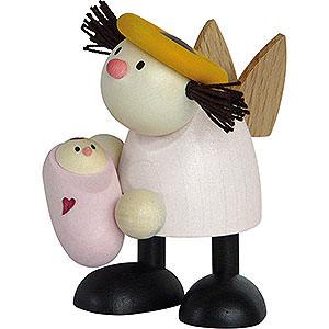 Kleine Figuren & Miniaturen Hans & Lotte (Hobler) Engel Lotte mit Baby Mädchen   - 7cm