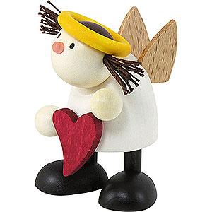 Kleine Figuren & Miniaturen Hans & Lotte (Hobler) Engel Lotte stehend mit Herz - 7 cm