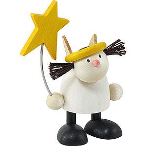 Kleine Figuren & Miniaturen Hans & Lotte (Hobler) Engel Lotte stehend mit Stern   - 7cm