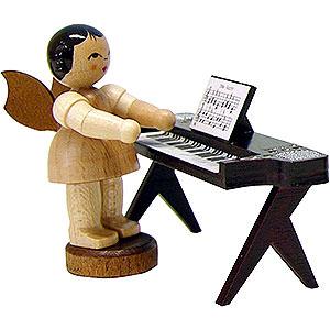 Weihnachtsengel Engel - natur - klein Engel am Keyboard - natur - stehend - 6cm