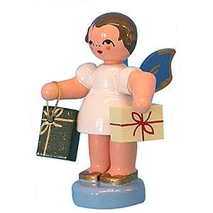 Weihnachtsengel Sonstige Engel Engel mit 2 Geschenken - Blaue Flügel - stehend - 6cm