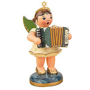 Weihnachtsengel Orchester (Hubrig) Engel mit Akkordeon  - 6,5cm
