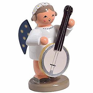 Weihnachtsengel Engelsorchester (KWO) Engel mit Banjo - 5 cm