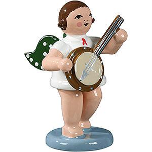 Weihnachtsengel Orchester (Ellmann) Engel mit Banjo - 6,5 cm