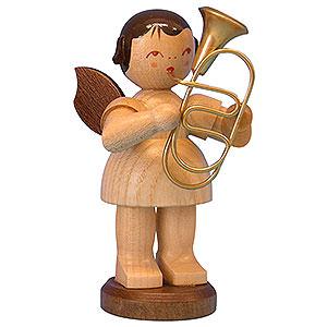 Weihnachtsengel Engel - natur - groß Engel mit Bariton - natur - stehend - 9,5 cm