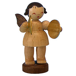 Weihnachtsengel Engel - natur - klein Engel mit Becken - natur - stehend - 6cm