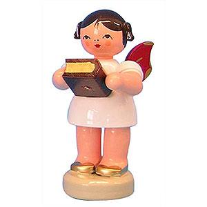 Weihnachtsengel Sonstige Engel Engel mit Bibel - Rote Flügel - stehend - 6cm