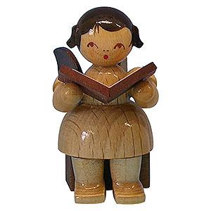 Weihnachtsengel Engel - natur - klein Engel mit Buch - natur - sitzend - 5cm
