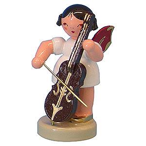 Weihnachtsengel Engel - rote Flügel - klein Engel mit Cello - Rote Flügel - stehend - 6 cm