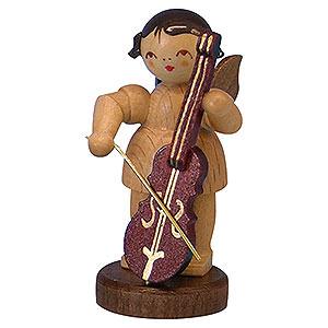 Weihnachtsengel Engel - natur - klein Engel mit Cello - natur - stehend - 6cm