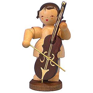 Weihnachtsengel Engel - natur - groß Engel mit Cello - natur - stehend - 9,5 cm