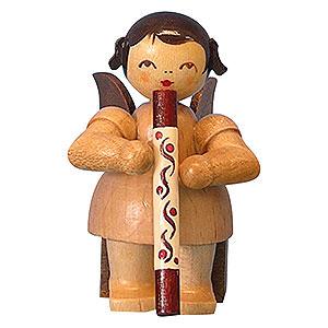 Weihnachtsengel Engel - natur - klein Engel mit Didgeridoo - natur - sitzend - 5cm