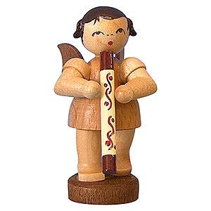 Weihnachtsengel Engel - natur - klein Engel mit Didgeridoo - natur - stehend - 6cm