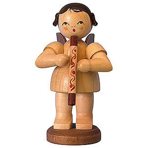 Weihnachtsengel Engel - natur - groß Engel mit Didgeridoo - natur - stehend - 9,5cm