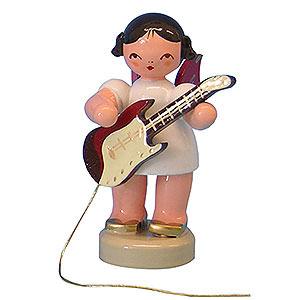 Weihnachtsengel Engel - rote Flügel - klein Engel mit E-Gitarre - Rote Flügel - stehend - 6cm